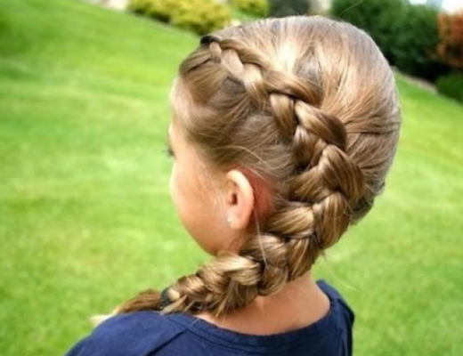 Прически девочкам в школу быстро и красиво. Как заплести косу колосок.
