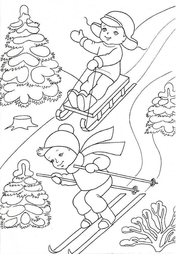 Зимние рисунки для срисовки легкие
