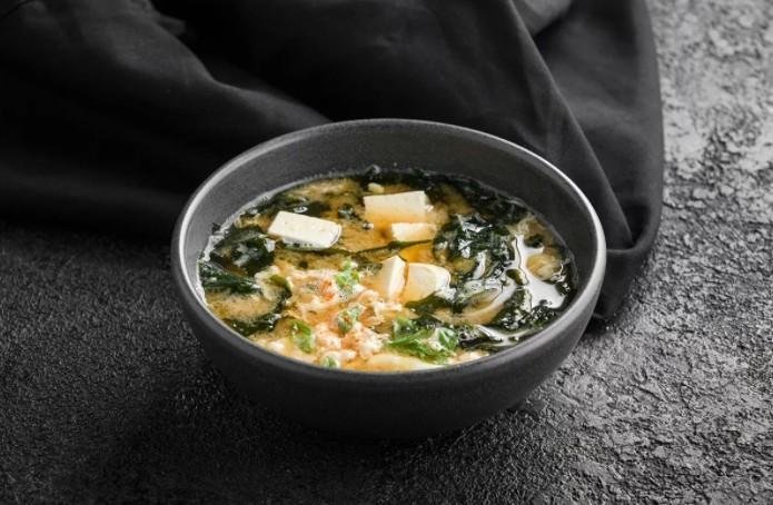 Суп кимчи с яйцом