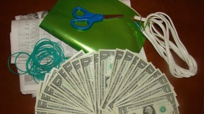 Как сделать букет из денег