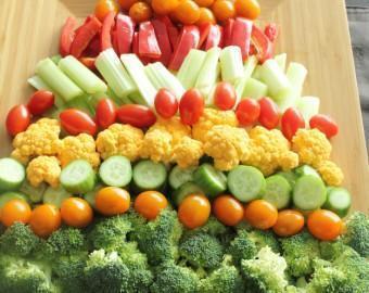 Красивая нарезка овощей на Новый год