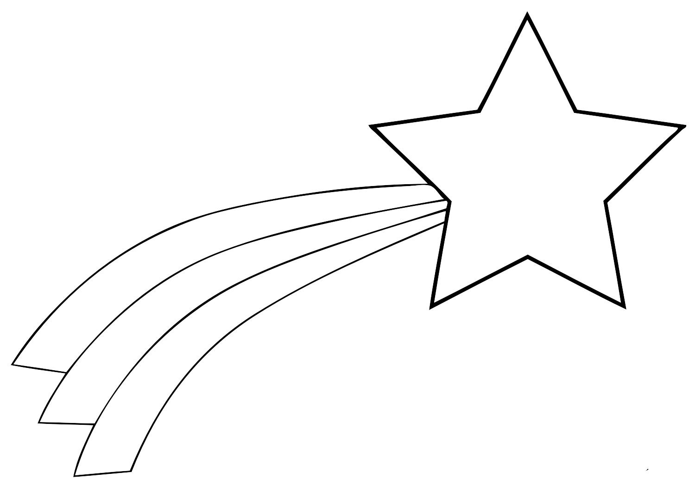 Звезда шаблон для вырезания на окно