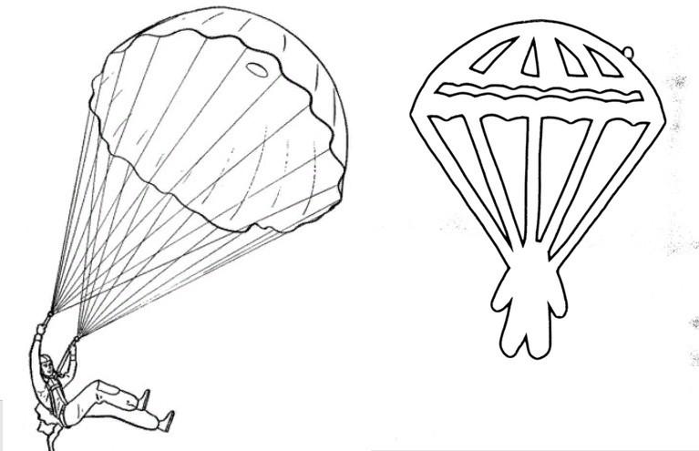 Шаблон парашютистов