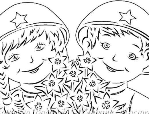 Шаблоны 23 февраля своими руками. Вытынанки на окна: самолет, танк, парашютисты, звезда, орден, салют, солдаты. Шаблоны для украшения окон в школу в детский сад, для дома.