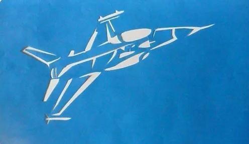 Самолет шаблон для вырезания