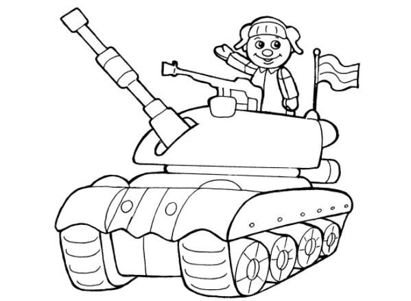 Шаблон танка для вырезания