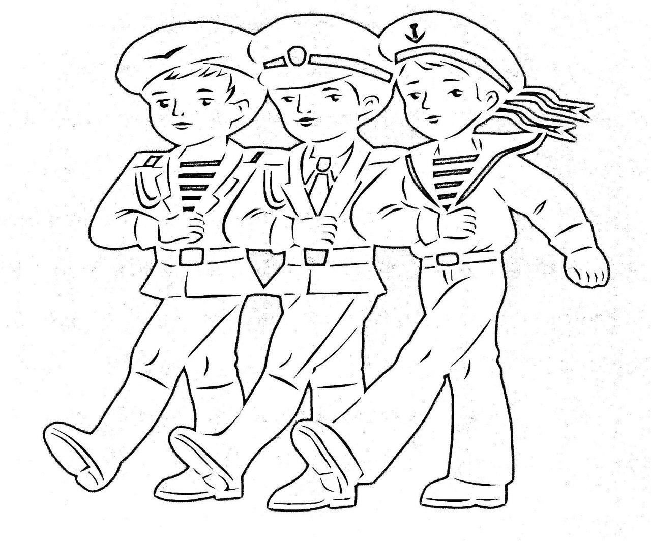 Солдат шаблоны 23 февраля