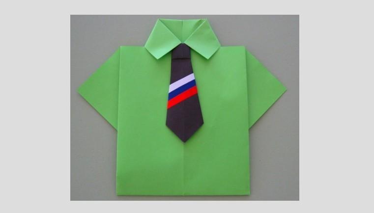 Открытка к 23 февраля: Рубашка с галстуком