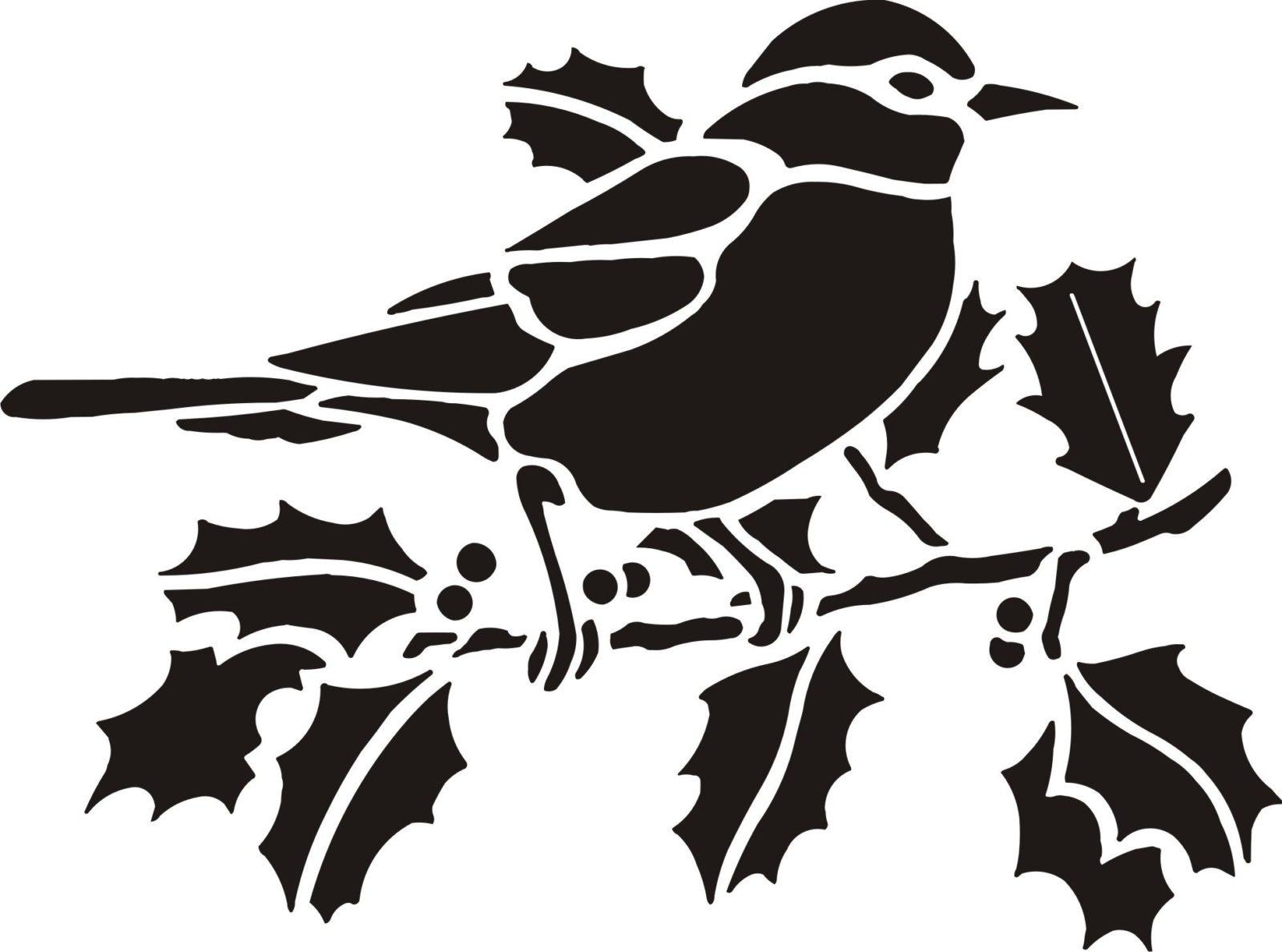 Шаблон птички для вырезания