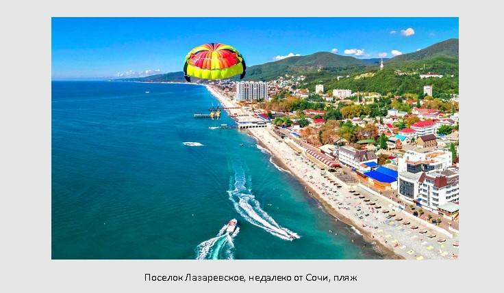 Лазаревское, Черное море