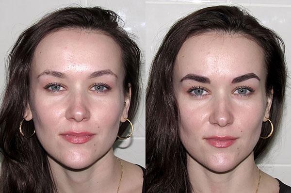 Фото бровей покрашенных хной до и после